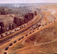 Asisbiz German Panzer columns on the move 01