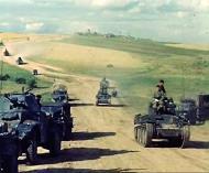 Asisbiz German Panzer columns on the move 02