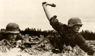 German Soldier throws grenade Operation Barbarossa 1941 01