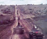 German Tank column on the move Russia 01