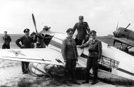 Asisbiz German officers inspecting abandoned soviet fighters 1941 01
