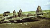 Asisbiz Soviet AF Ilyushin IL 2 Sturmovik Red 9 being salvaged by German troops Barbarossa 1941
