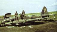 Soviet AF Ilyushin IL 2 Sturmovik red 9 being salvaged by German troops Barbarossa 1941