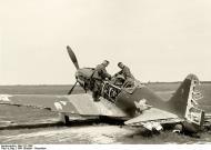 Asisbiz Soviet AF Mig 3 German solders inspecting a abandoned soviet fighter 1941