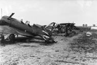 Soviet AF Polikarpov I 16 trainer destroyed on the ground during Operation Barbarossa 1941 01