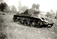 Asisbiz Soviet BT 7 light tank lies abandoned after a battle with German forces 01