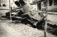 Asisbiz Soviet BT 7 light tank lies abandoned after a battle with German forces 02