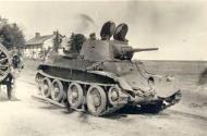 Asisbiz Soviet BT 7 light tank lies abandoned after a battle with German forces ebay1