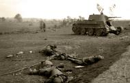 Asisbiz Soviet BT tank detroyed after a battle with German forces shows the carnage of war 01