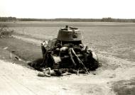Asisbiz Soviet OT 133 flamethrower tank based on T 26 abandoned after a battle with German forces 01
