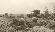 Soviet T 26 light tanks on the offensive during the Battle of Smolensk Aug 1941 01