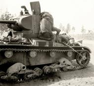 Asisbiz Soviet T 26 tank detroyed after a battle with German forces shows the carnage of war 03