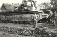 Asisbiz Soviet T 35 heavy tank captured by the German soldiers from the 68 Panzer Regiment 01