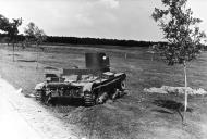 Asisbiz Soviet light tank lies abandoned after a battle with German forces 01