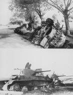 Asisbiz Soviet tanks and armoured cars destroyed by German forces Barbarossa 28th Jun 1941 NIOD