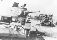 Asisbiz Vehicles litter the Minsk Moscow motorway near Jarzewo 2nd Sep 1941 NIOD