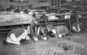 02 London school children taking part in a air raid drill July 20 1940 01