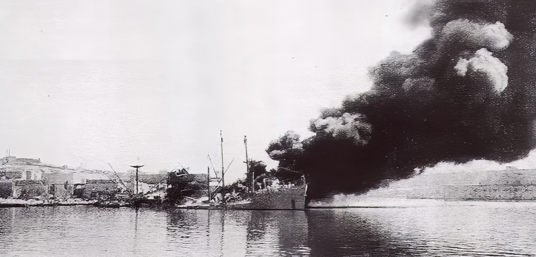 British Merchant ship SS Pampas after being bombed Malta March 26 1941 01