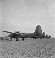 Asisbiz British USAAF 41 19345 A 20B Boston SAAF 12Sqn Z ready for take off at Gzina Sidi Azzab Libya IWM CNA4677