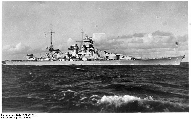 Kriegsmarine Scharnhorst class battlecruisers battleship KMS Scharnhorst 01