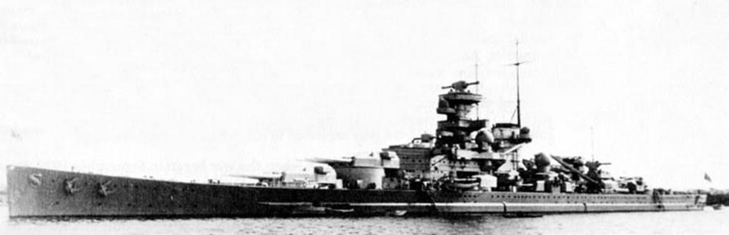 Kriegsmarine Scharnhorst class battlecruisers battleship KMS Scharnhorst during Sea trials 02