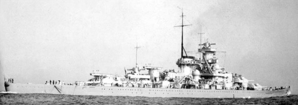 Kriegsmarine Scharnhorst class battlecruisers battleship KMS Scharnhorst during Sea trials 04