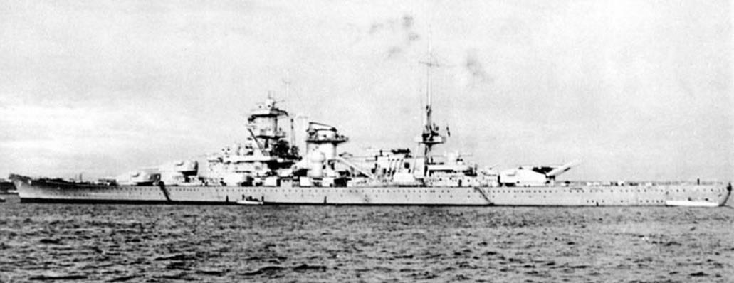 Kriegsmarine Scharnhorst class battlecruisers battleship KMS Scharnhorst during Sea trials 05