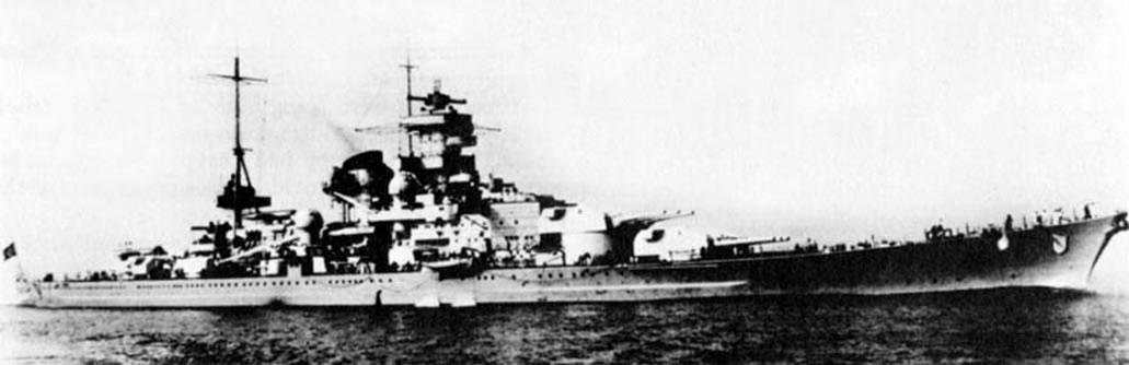 Kriegsmarine Scharnhorst class battlecruisers battleship KMS Scharnhorst during Sea trials 06