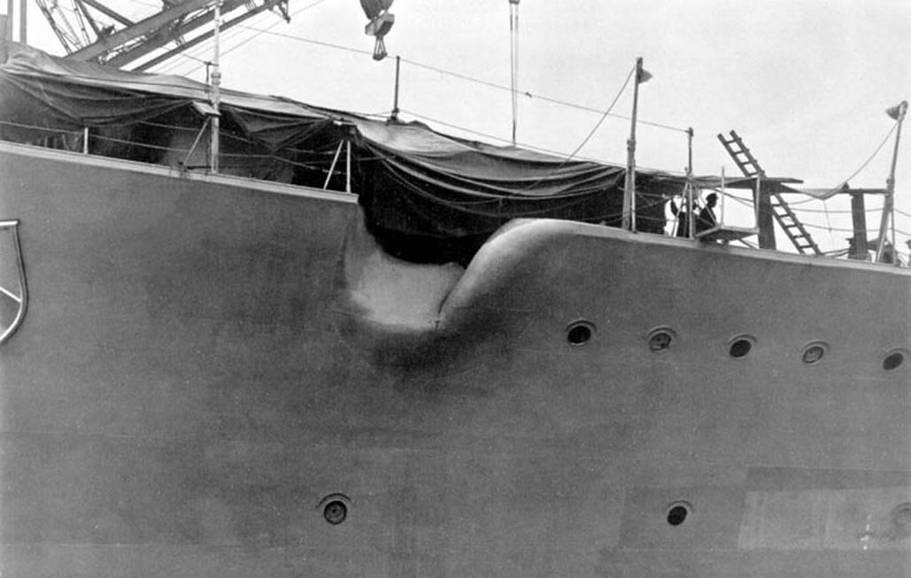 Kriegsmarine Scharnhorst class battlecruisers battleship KMS Scharnhorst during her Refit 02