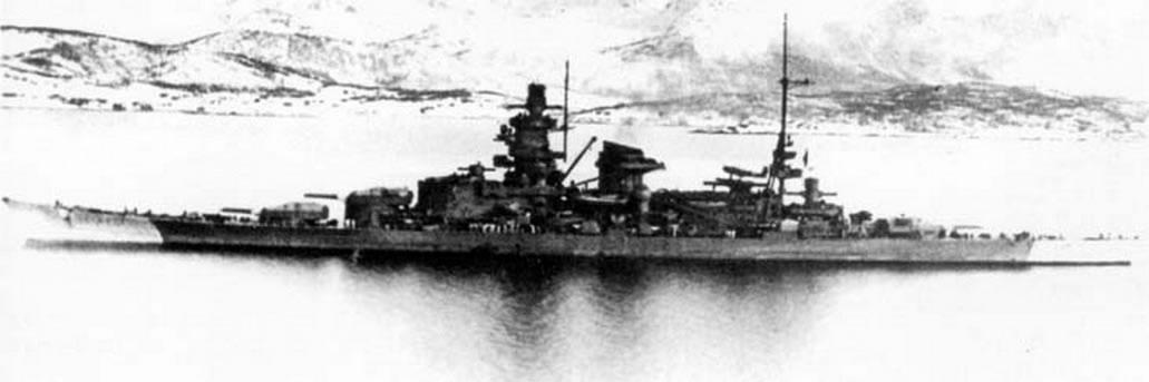 Kriegsmarine Scharnhorst class battlecruisers battleship KMS Scharnhorst during her final year 03