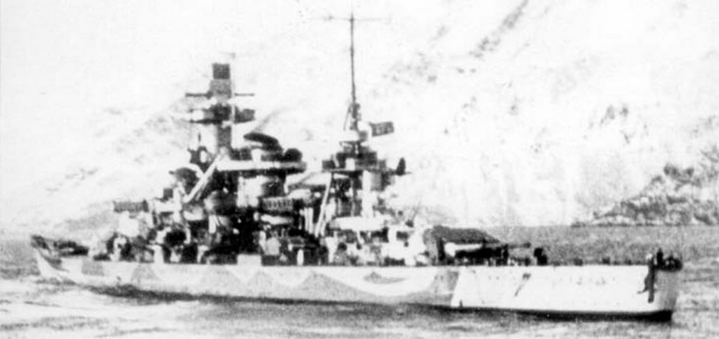 Kriegsmarine Scharnhorst class battlecruisers battleship KMS Scharnhorst during her final year 05