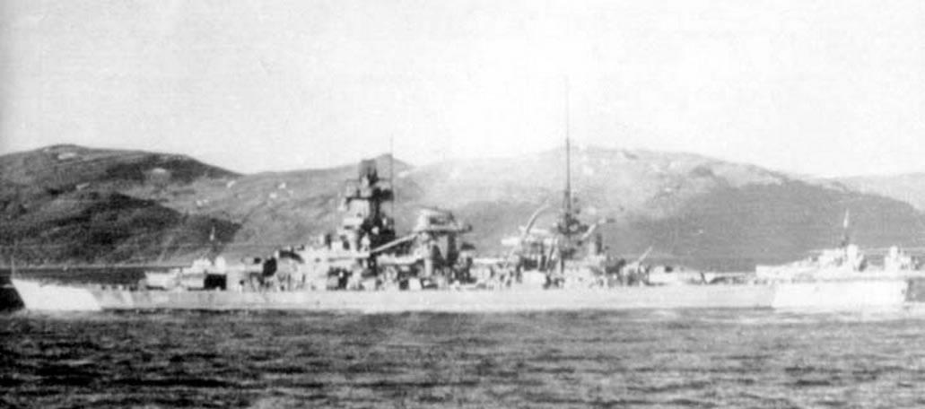 Kriegsmarine Scharnhorst class battlecruisers battleship KMS Scharnhorst during her final year 06