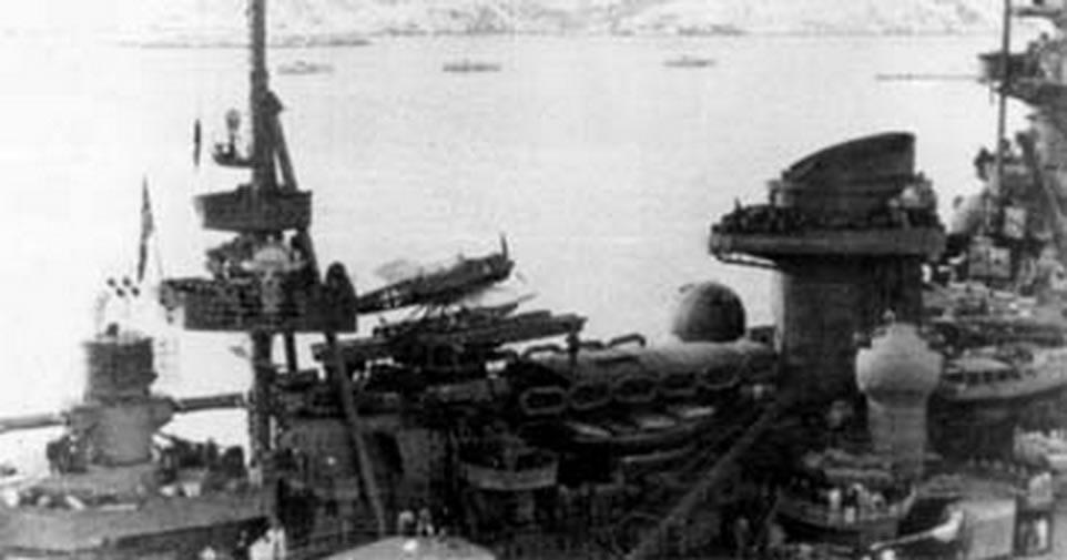 Kriegsmarine Scharnhorst class battlecruisers battleship KMS Scharnhorst during her final year 07