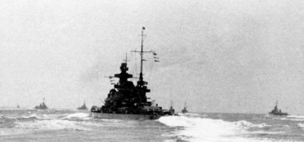 Kriegsmarine Scharnhorst class battlecruisers battleship KMS Scharnhorst during operation Cerberus 01