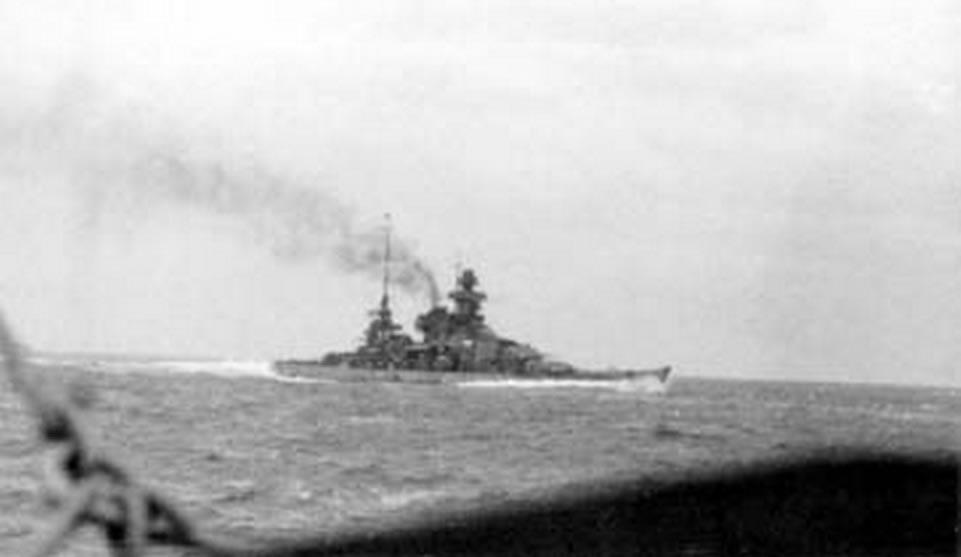 Kriegsmarine Scharnhorst class battlecruisers battleship KMS Scharnhorst during operation Cerberus 03