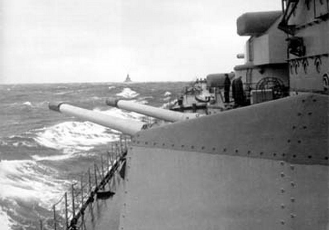 Kriegsmarine Scharnhorst class battlecruisers battleship KMS Scharnhorst during operation Juno 01