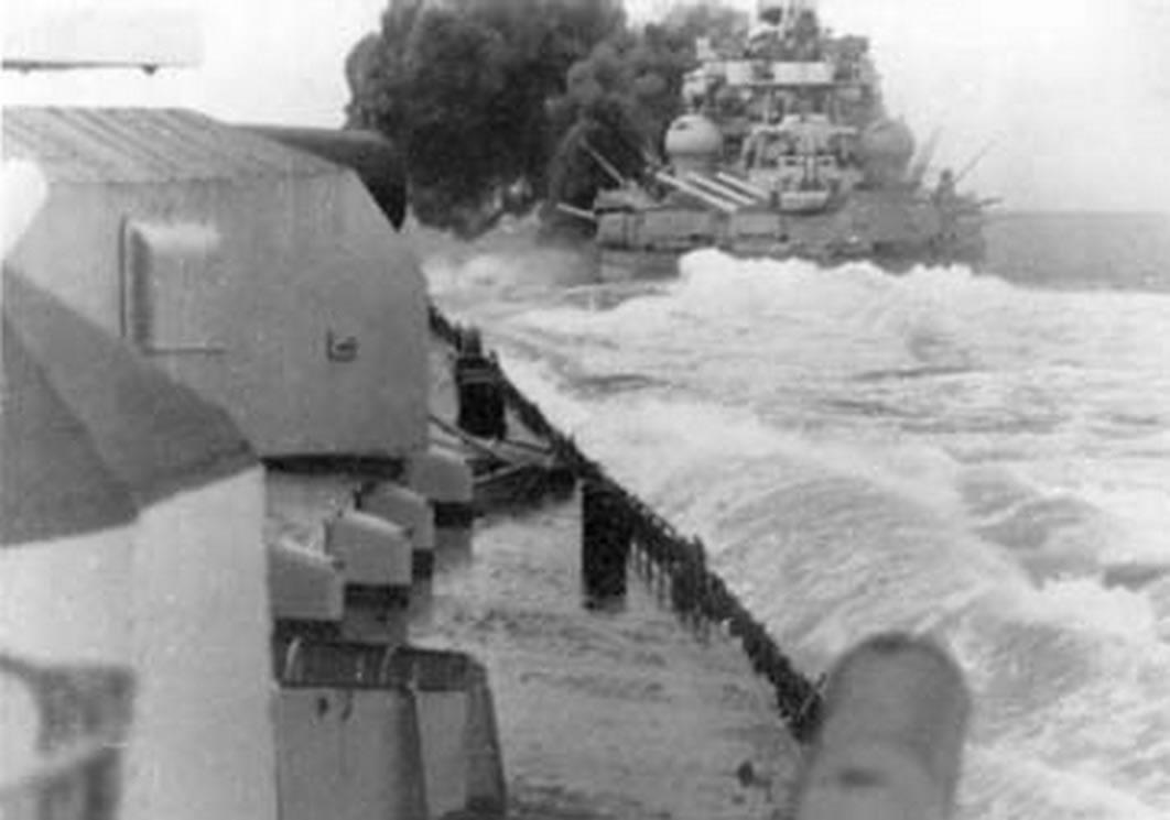 Kriegsmarine Scharnhorst class battlecruisers battleship KMS Scharnhorst during operation Juno 02