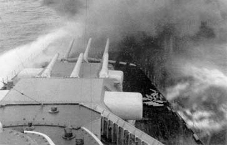 Kriegsmarine Scharnhorst class battlecruisers battleship KMS Scharnhorst during operation Juno 03