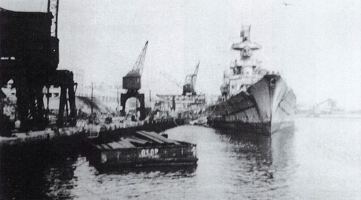Kriegsmarine Scharnhorst class battlecruisers battleship KMS Scharnhorst in Brest France 1941 01