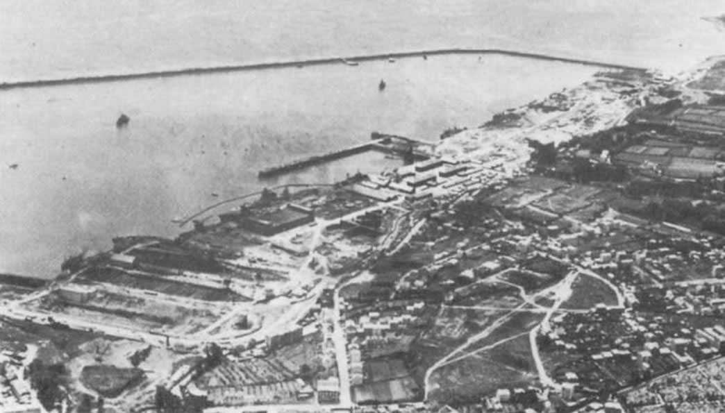 Kriegsmarine battlecruisers KMS Scharnhorst and KMS Gneisenau in drydock Brest France 1941 02