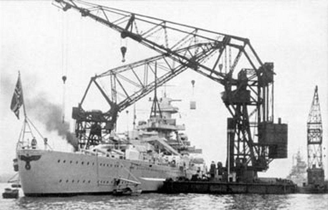 Kriegsmarine battleship KMS Gneisenau Sea trials 04