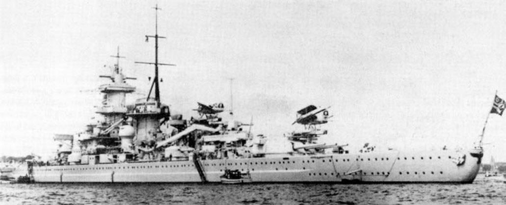 Kriegsmarine battleship KMS Gneisenau Sea trials 05