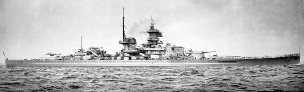 Kriegsmarine battleship KMS Gneisenau Sea trials 06