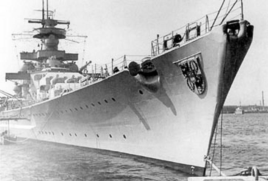 Kriegsmarine battleship KMS Gneisenau Sea trials 11