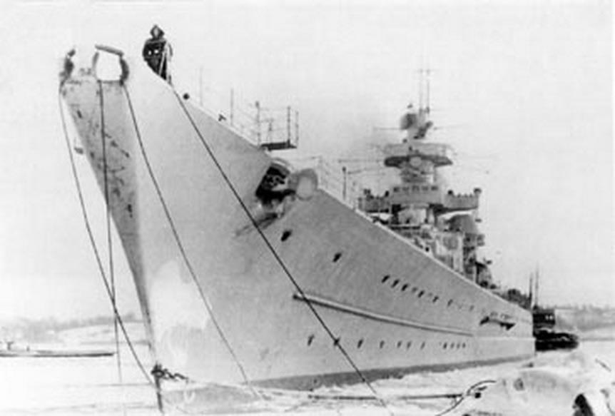 Kriegsmarine battleship KMS Gneisenau Sea trials 12