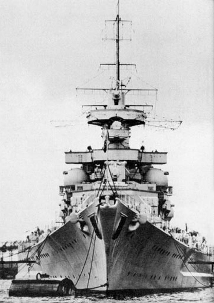 Kriegsmarine battleship KMS Gneisenau Sea trials 13