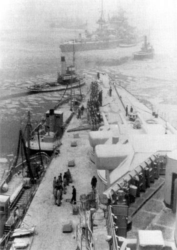 Kriegsmarine battleship KMS Gneisenau Sea trials 14