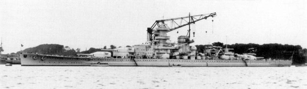 Kriegsmarine battleship KMS Gneisenau Sea trials 15