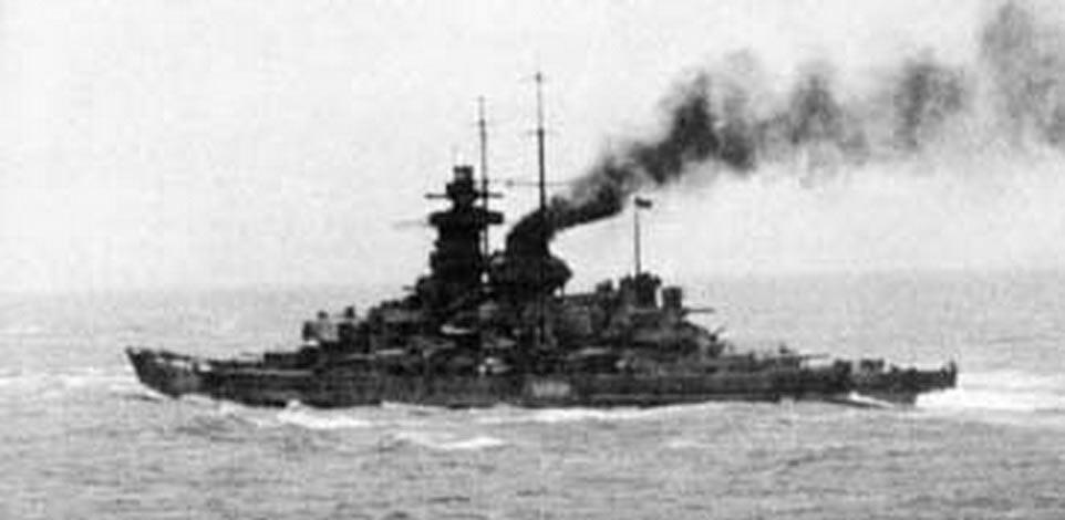 Kriegsmarine battleship KMS Gneisenau during operation Cerberus 01