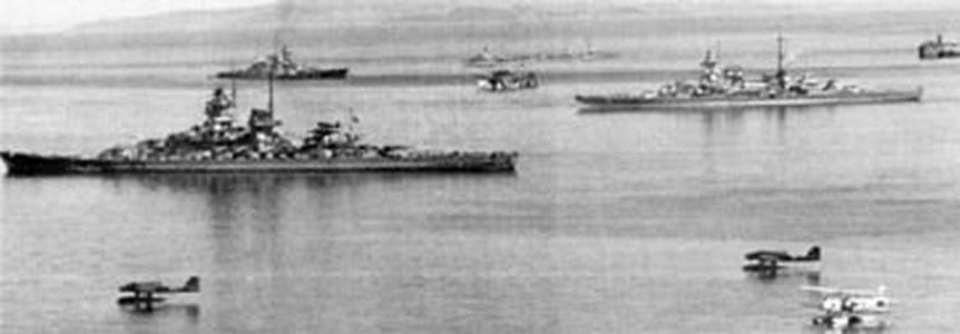 Kriegsmarine battleship KMS Gneisenau during operation Juno 02